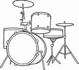 Drum Drums Coloring Pages Drawing Instruments Musical Printable Class sketch template