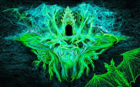jungle wat  psychedelic wallpaper andrei verner