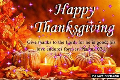 Thanksgiving Happy Thanks Give Lord Quotes Animated