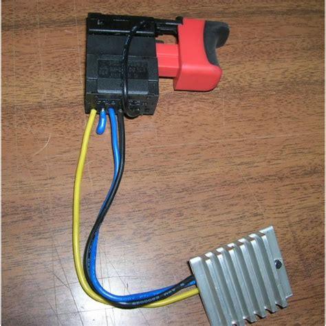 schema variateur perceuse sans fil