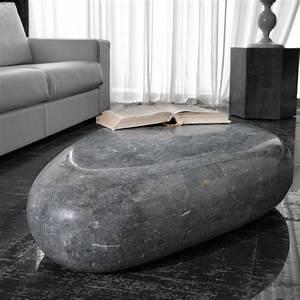 Table Basse Forme Galet : table basse galet grise originale table salon ~ Teatrodelosmanantiales.com Idées de Décoration