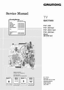 Grundig Cuc7303 3 Service Manual Download  Schematics