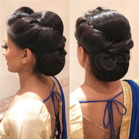 stunning hair buns  judas  wear  sarees blog