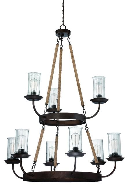 Large Rustic Chandelier Lighting by Aged Bronze Thornton 9 Light Large Chandelier Rustic