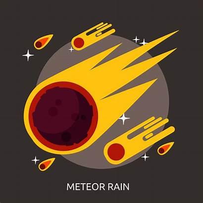 Meteor Rain Illustration Vector Starry Icon Conceptual