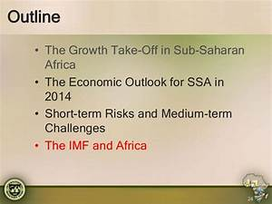 Africa APPG- IMF's Regional Economic Outlook for Sub ...