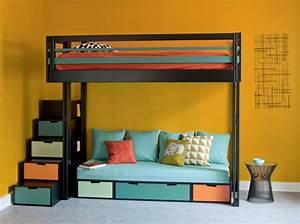 10 solutions pour amenager le dessous dun lit mezzanine for Robe de chambre enfant avec matelas cher