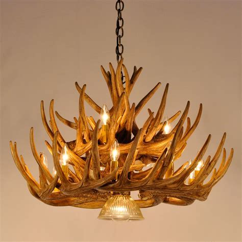 Whitetail Deer 21 Antler Cascade Chandelier with Downlights