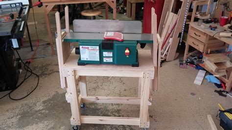 benchtop jointer stand  folding extension wings