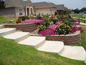 Steep sloped back yard landscaping ideas sloped front for Front yard slope landscaping ideas