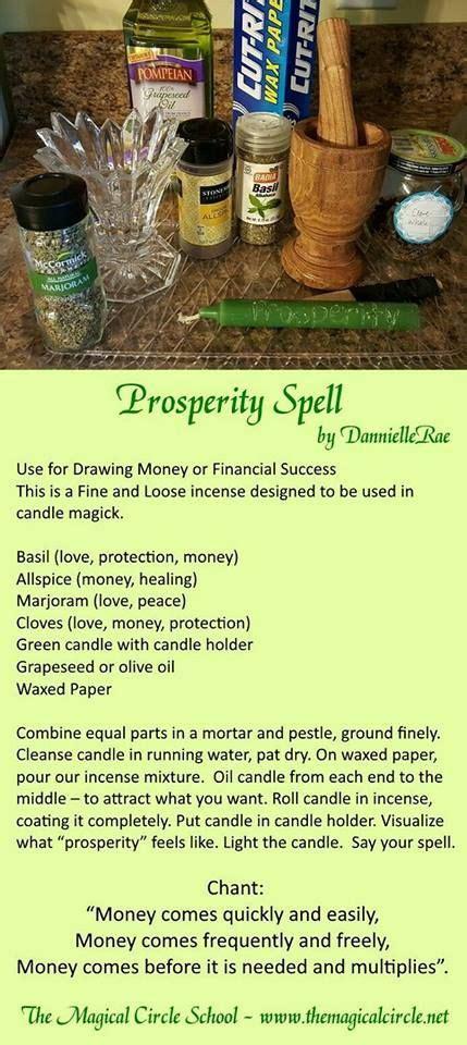 prosperity spell pinned   mystics emporium  etsy