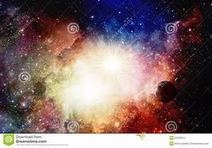 Colorful Nebulae And Supernova With Planets Stock ...