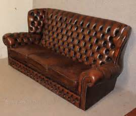 antiques atlas brown chesterfield style high back 3