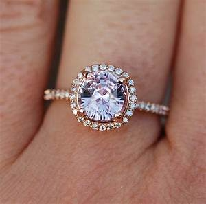 rose gold engagement ring color change sapphire diamond ring With wedding rings with color