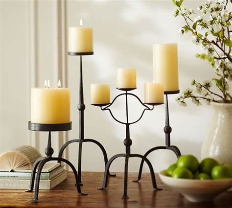 pottery barn candle holders bradley pillar candleholders pottery barn