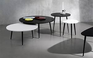 Table Basse Ronde Blanc Laqué : coedition table basse soho ronde blanc ~ Teatrodelosmanantiales.com Idées de Décoration