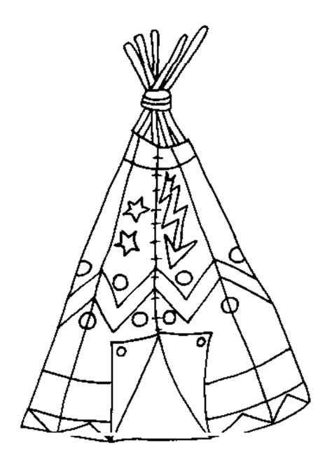 coloriage tepee indien