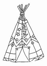 Pages Tipi Coloring Native Sheet American Template Wigwam Pee Tee Patterns sketch template