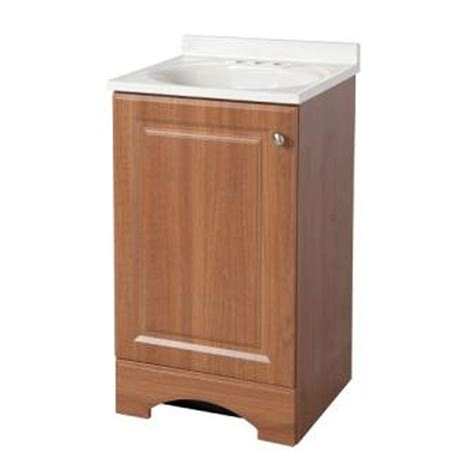 Glacier Bay Bath Vanity Tops by Glacier Bay 18 63 In Vanity In Golden Pecan With Ab