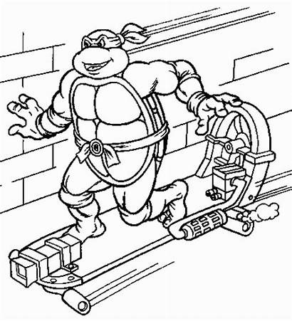 Ninja Coloring Turtles Turtle Colorir Tartarugas Das