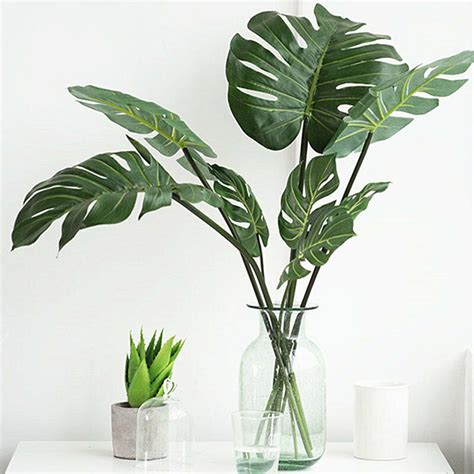 artificial decor faux foliage turtle leaves leaf coconut