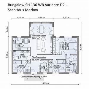Bungalow Mit Keller : bungalow haus grundriss mit walmdach architektur 4 zimmer 145 m erdgeschoss ebenerdig ~ A.2002-acura-tl-radio.info Haus und Dekorationen