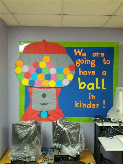 gumball machine bulletin board    kindergarten