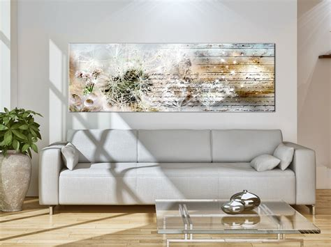 bilder wohnzimmer wandbilder pusteblume leinwand bilder natur