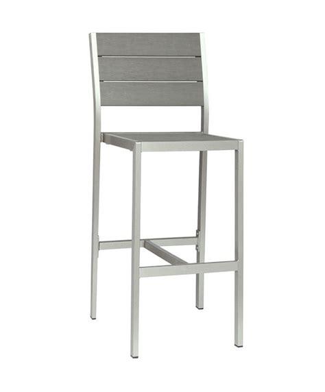 chaise haute exterieur m0529 chaise haute en aluminium le mobilier du pro