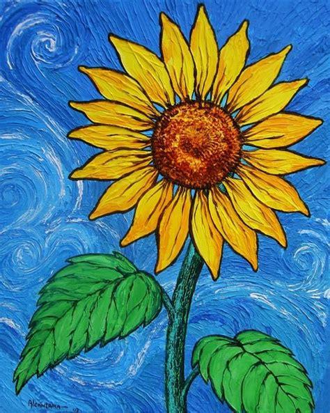 A Sunflower By Juan Alcantara Sunflower Art Sunflower