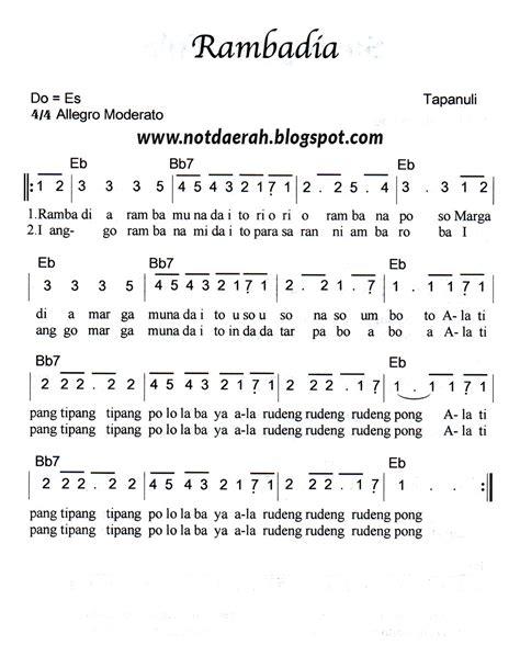soleram not angka not angka lagu rambadia tapanuli not angka lagu daerah indonesia