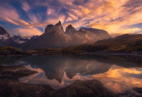 Torres Del Paine National Park Mountain In Chile