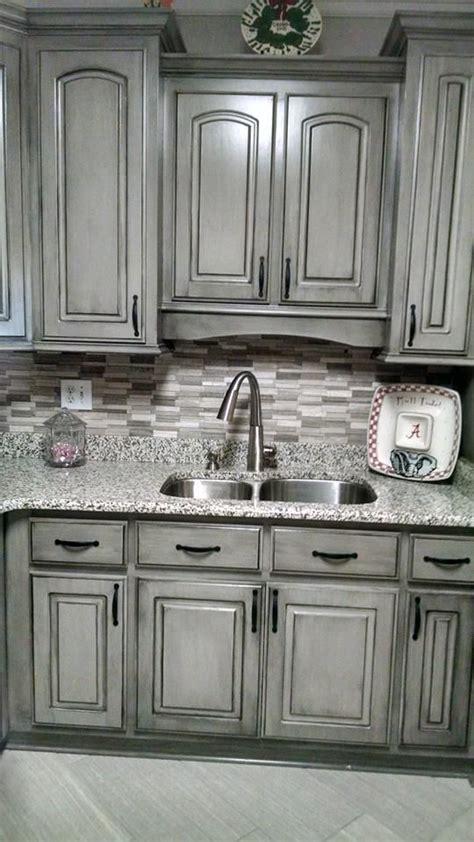 gray distressed kitchen cabinets pretty valspar aspen gray glazed in black gorgeous 3918
