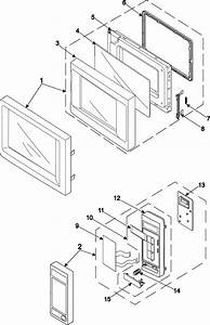Control Panel  Door Assembly Diagram  U0026 Parts List For Model Mr5493gxaa01 Samsung