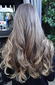 Gray Brown Hair with Highlights