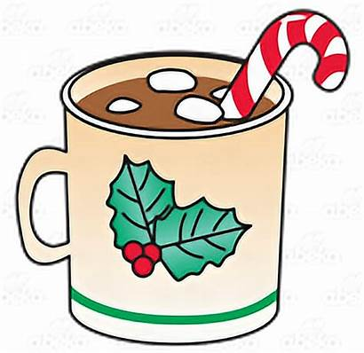 Chocolate Clipart Christmas Marshmallows Mug Cartoon Candy