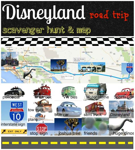 Disney Roadtrip Scavenger Hunt And Map  Eclectic Momsense