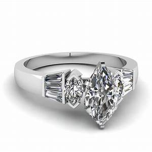 Marquise baguette ring fascinating diamonds for Marquise diamond wedding ring