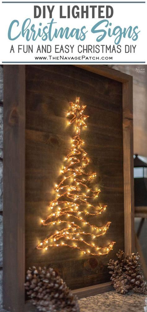 diy lighted christmas signs christmas decor diy