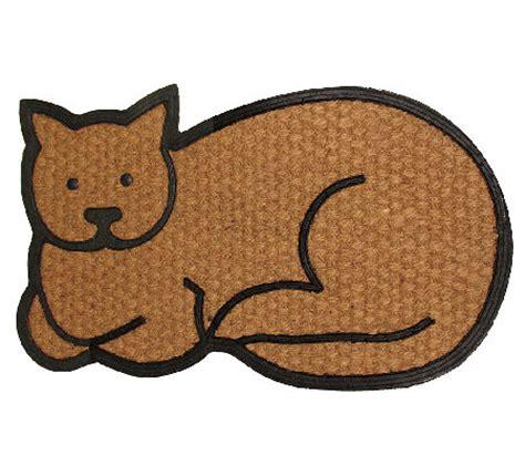 cat doormats geo crafts flat weave tuffcor cat door mat qvc