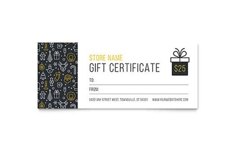 gift certificate template  word publisher