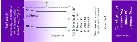 Tickets Templates Free by 41 Free Editable Raffle Ticket Templates Free