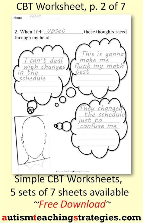 cbt worksheets for children calleveryonedaveday