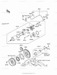 Kawasaki Atv 2012 Oem Parts Diagram For Starter Motor