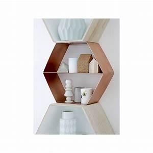 Etagere Murale Hexagonale : etag re murale hexagone bloomingville ~ Preciouscoupons.com Idées de Décoration