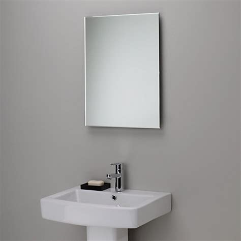 bathroom mirror edging buy john lewis bevelled edge bathroom mirror h45 x w60cm john lewis