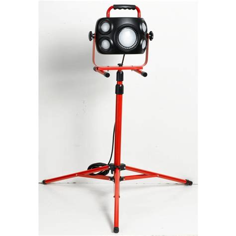 home depot led work light idc lighting black and red led work light with tripod