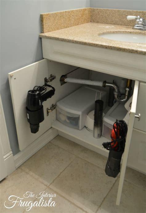 diy  bathroom vanity sliding shelf  interior frugalista