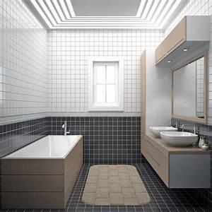 revgercom salle de bain rectangulaire 10m2 idee With maison de 100m2 plan 5 maison en l de 130m2 lavande traditionnel azur logement