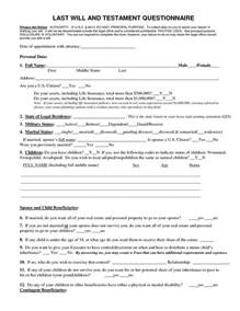 AZ Free Last Will and Testament Blank Forms